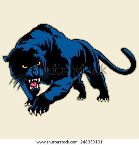 black panther - stock vector
