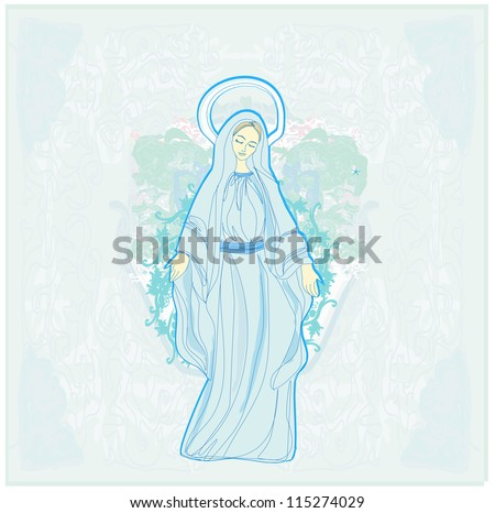 Blessed Virgin Mary - stock vector