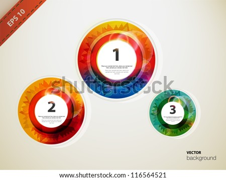 123 blocks. Product choice or versions. Vector. - stock vector