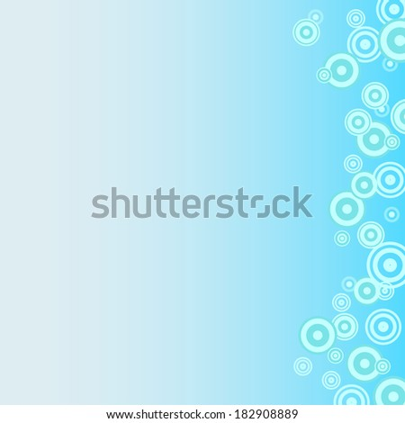 blue background with concentric circles