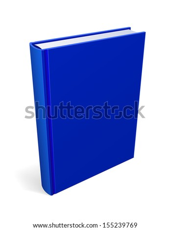 Blue Book Isolated Vector - stock vector