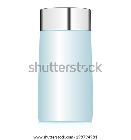 Blue bottle on white background. Vector illustration - stock vector