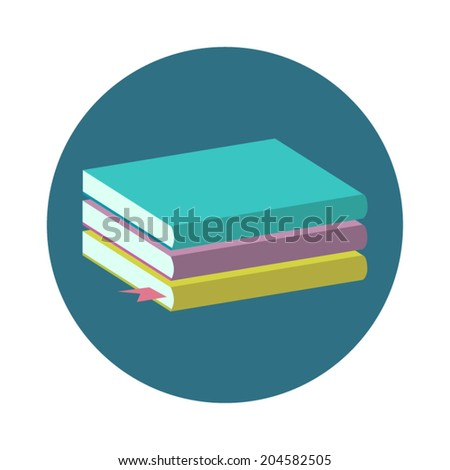 Book illustration in flat style. - stock vector