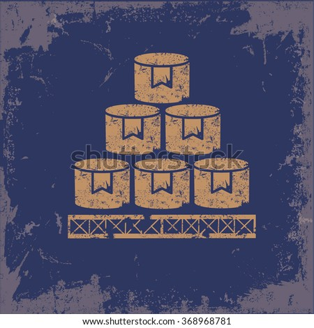 Box,cargo design on old background,grunge vector - stock vector