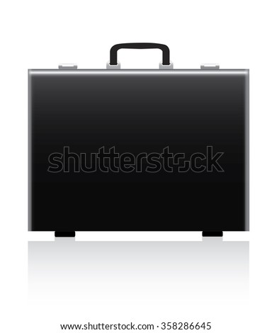 briefcase on white background - stock vector