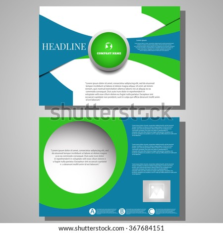 Architecture Design Template orange brochure flyer design architecture design stock vector