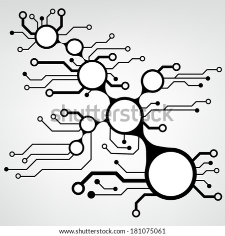 ?bstract circuit board techno background. EPS10 vector illustration pattern - stock vector