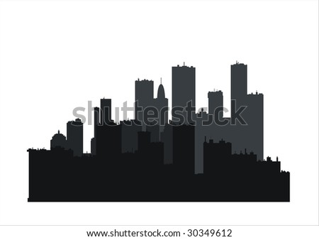 building silhouettes 2 - stock vector