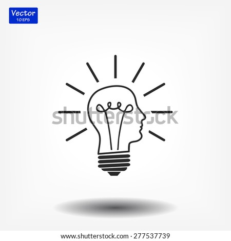 bulb concept .icon. Vector  Eps 10  - stock vector