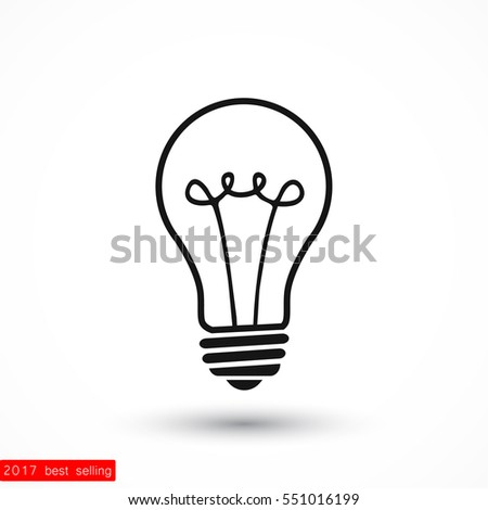 bulb icon. Vector  Eps 10