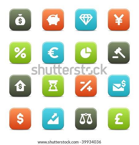 16 business and economy icons for you site or software. The vector file contains each icon in four different colors.