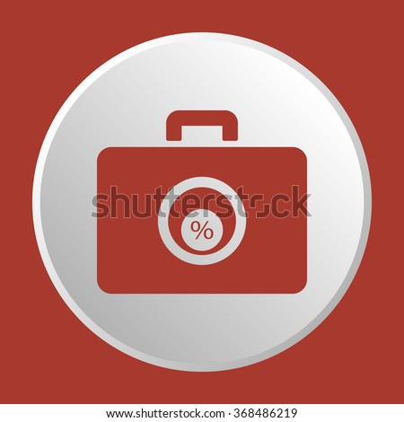 Business and finance icon percentage icon, vector illustration. Flat design style. - stock vector