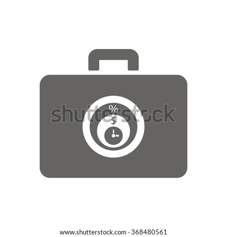 Business and finance icon percentage icon, vector illustration.Home icon vector illustration. Flat design style. - stock vector