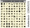 100 business and finance icons - stock vector