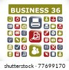 36 business buttons, vector - stock vector