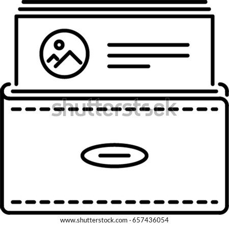 Business card outline icon stock vector royalty free 657436054 business card outline icon colourmoves