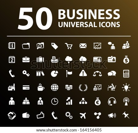 50 Business Icons. - stock vector