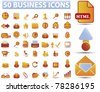 50 business icons, signs, vector illustrations - stock vector