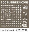 100 business icons. vector - stock photo
