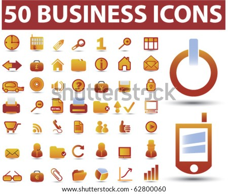 50 business icons. vector - stock vector