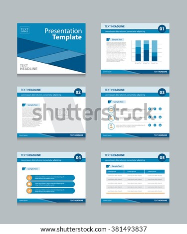 business presentation template slides background info stock vector