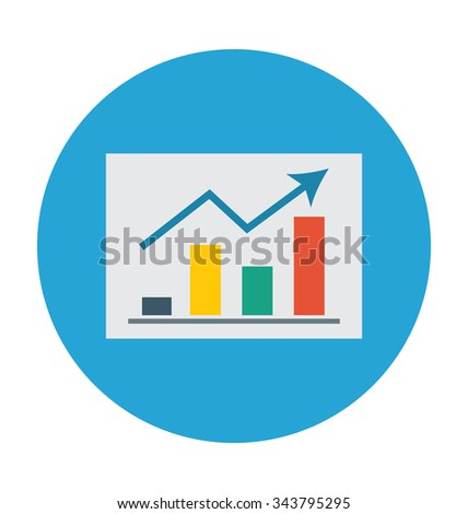 Business Report Colored Vector Illustration