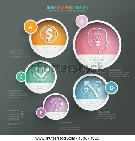 Business strategy info graphic design.clean vector - stock vector