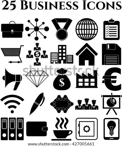 25 businessicon set. Universal Modern Icons.