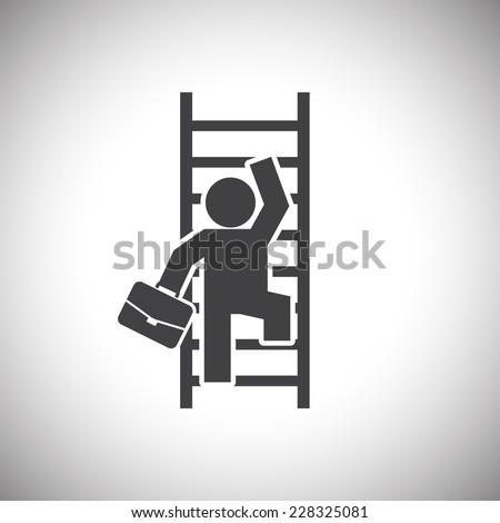 Businessman Climbing Ladder - stock vector