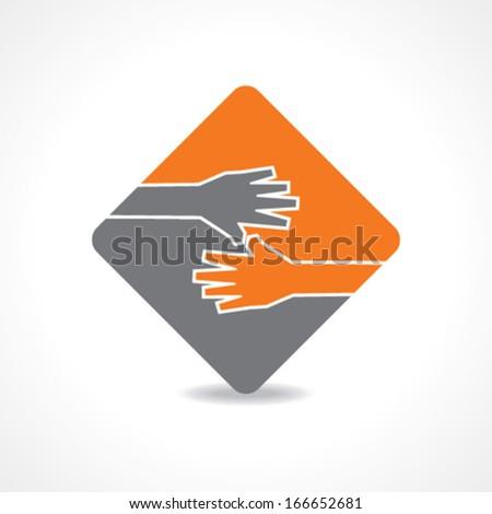 Businessman hand shaking stock vector - stock vector