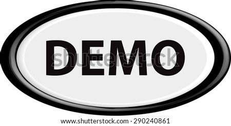 Button demo. The round shape. 3D. Vector illustration. - stock vector