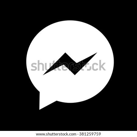 Facebook Button Black ...