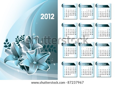 2012 Calendar. Abstract Illustration in Eps10 Format.