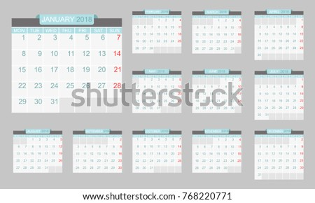 pages calendar template