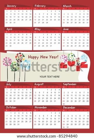 2012 calendar-vector - stock vector