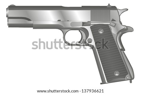 .45 caliber semi automatic pistol.