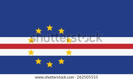 cape verde Flag for Independence Day and infographic Vector illustration. - stock vector