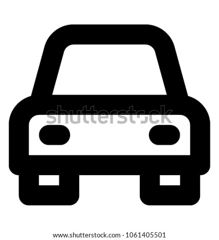 Car Bold Line Icon Transport Symbol Stock Vector 1061405501