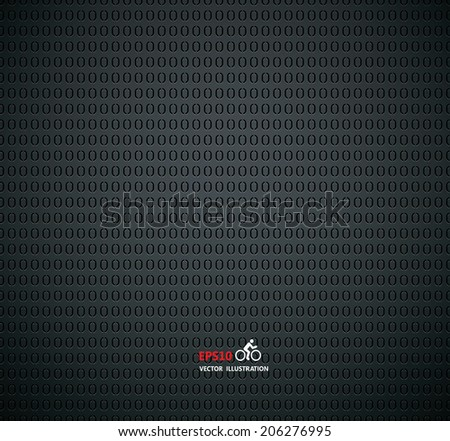 Carbon metallic background - stock vector