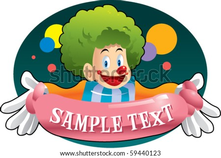 carnival clown - stock vector