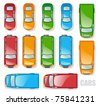 Cars and minibuses - the top view