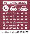 40+ cars signs. vector - stock vector