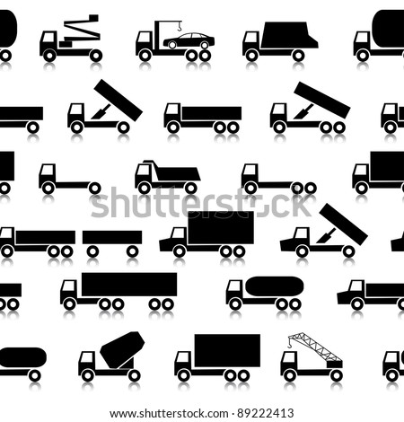 Cars, vehicles. Car body. Seamless wallpaper. - stock vector