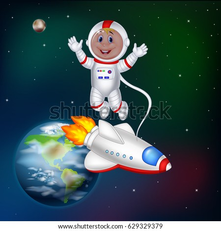 cartoon astronaut in outer space - photo #6