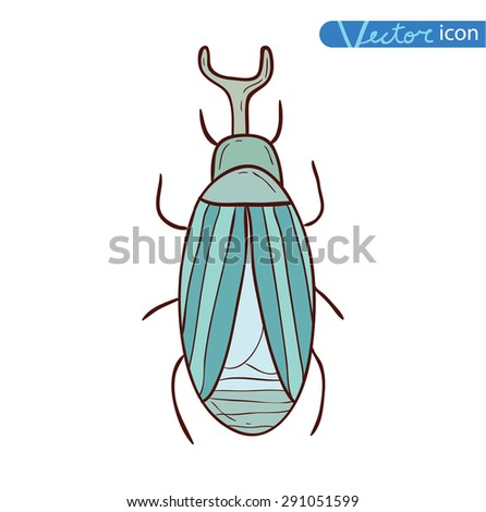 cartoon insect bug icon, vector illustration.