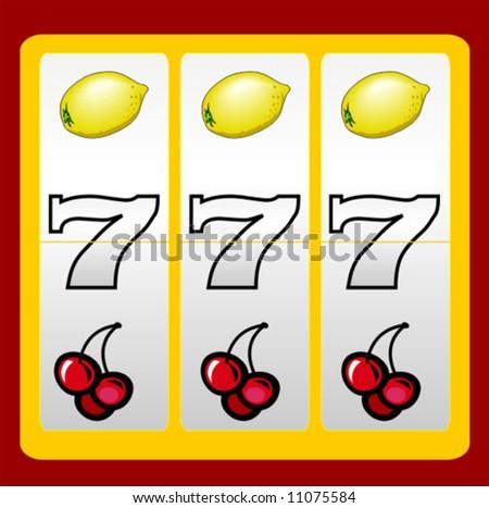 777 casino slot design - stock vector