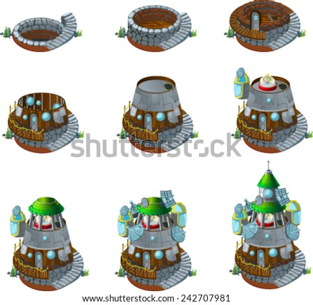 castle - stock vector