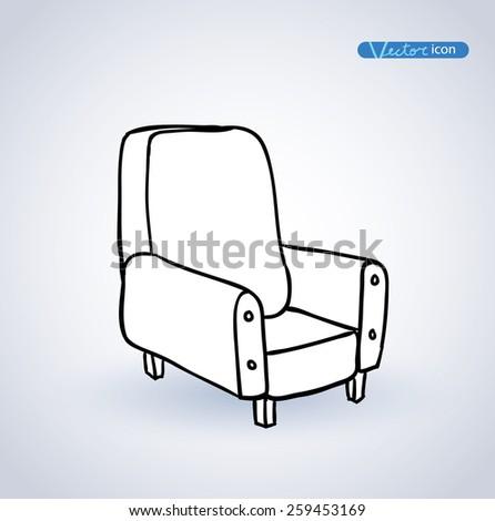 Chair sofa, vector illustration. - stock vector