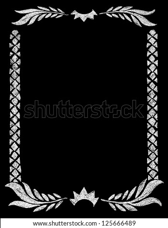 Chalk Board Crown Border - stock vector