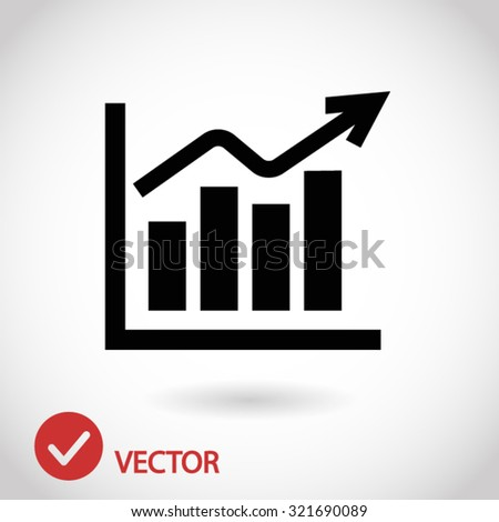 chart icon. One of set web icons